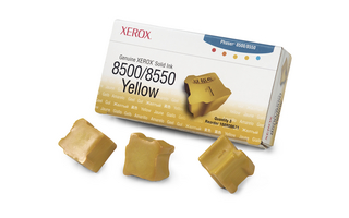 3 Sticks Yellow Xerox Phaser 8500 8550, 3K
