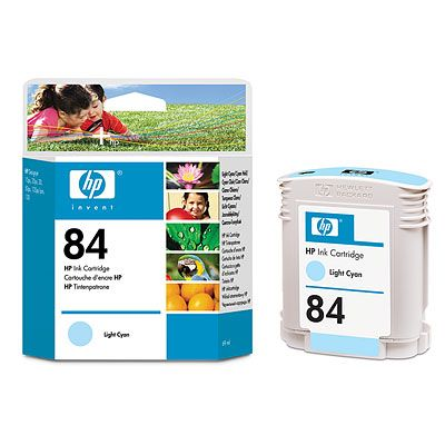 HP 84 Light Cyan Ink Cartridge, 69 ml,HP designjet 90