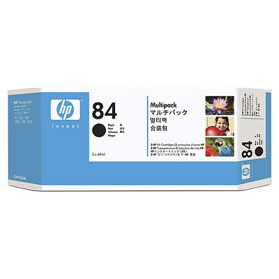 HP 84 Black Ink Cartridges 3-pack,69 ml,HP Designjet 30 / 90 / 1
