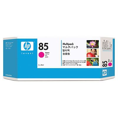 HP 85 Magenta Ink Cartridges 3-pack, 28 ml