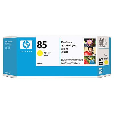 HP 85 Yellow Ink Cartridges 3-pack, 69 ml