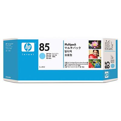 HP 85 Light Cyan Ink Cartridges 3-pack, 69 ml