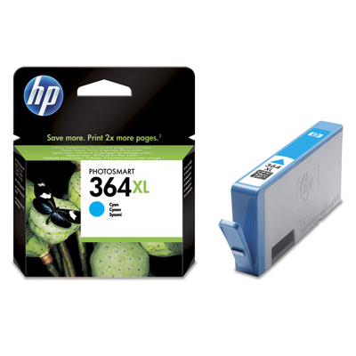 HP 364XL Cyan Ink Cartridge Photosmart D5400