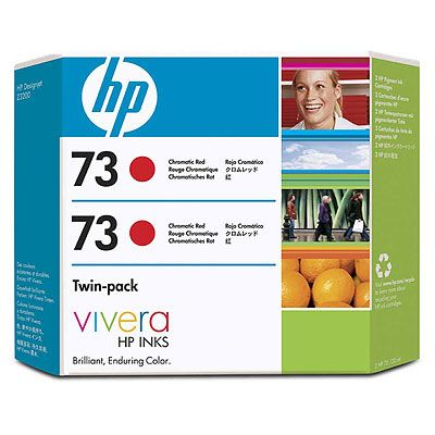 HP 73 2-pack 130-ml Chromatic Red Ink Z3200
