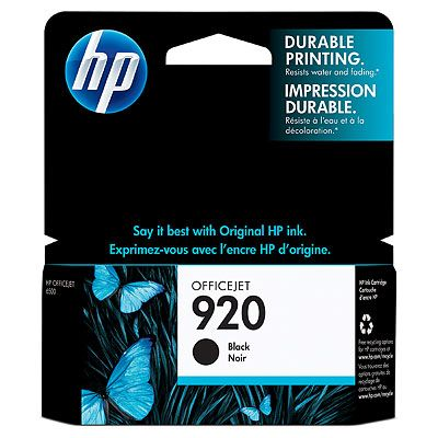 HP 920 Black Officejet Ink Cartridge