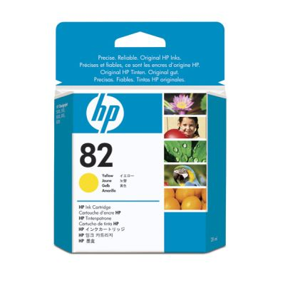 HP 82 28-ml Yellow Ink Cartridge 500 500 Plus 500PS 510