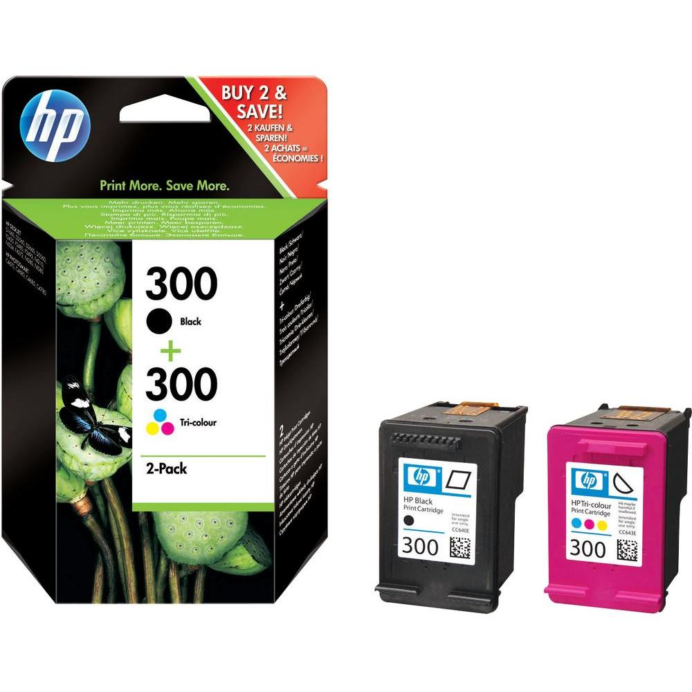 HP 300 Combo-pack Black/Tri-color Ink Cartridges CN637EE